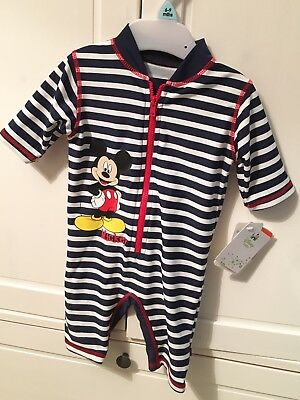 Mothercare Baby Boys swimsuit 6-9 Months Disney Mickey Mouse BNWT