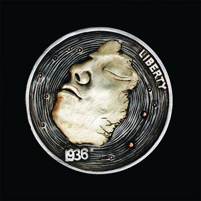 Hobo Nickel # HN17-108  Copper inlay by David HJ He(HJH)
