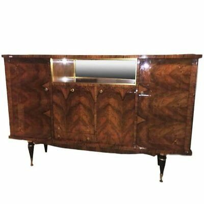 Monumental Paolo Buffa Style Macassar and Rosewood Italian Sideboard Bar
