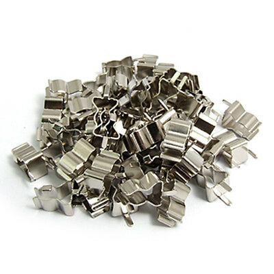 50Pcs Electronic Glass Fuse Tube Clip Clamp for 6 x 30mm Fuse SS