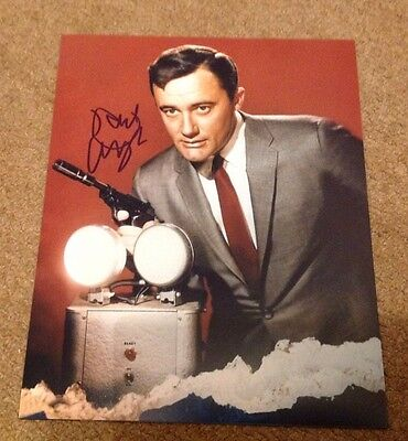 ROBERT VAUGHAN  -  MAN FROM UNCLE  - SIGNED COL PHOTO  10 x 8 Inches   -  UACC