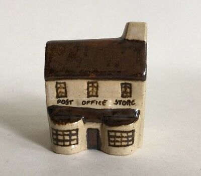 Miniature Brownstone Earthenware Ceramic Replica Post Office Store