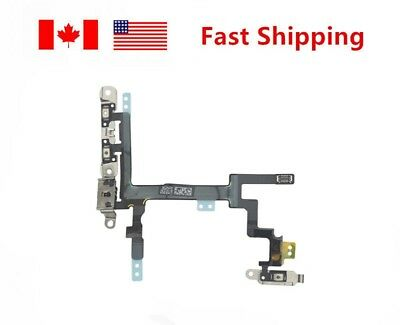 For iPhone 5 5G Flex Cable Repair Mute Power Volume Button Switch On/Off NEW