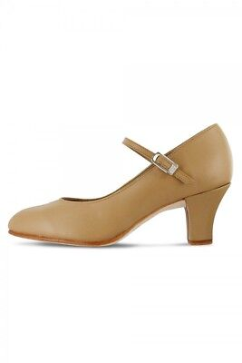 Bloch Women's Tan Leather Cabaret Character Shoe Size 5 - New! - $19.95