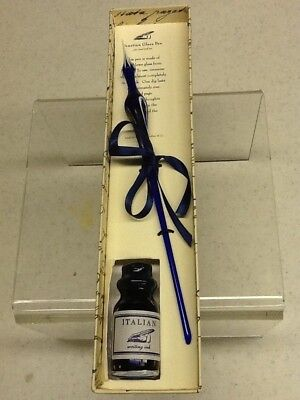 Venetian Glass Writing Pen with Ink in Gift Box