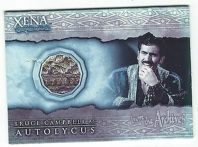 Xena Costume Card C3 Bruce Campbell As Autolycus Rittenhouse Archives Good+
