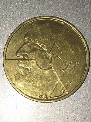 Belgie 5 F Belgian 1986 Rare Collectible Old Coin