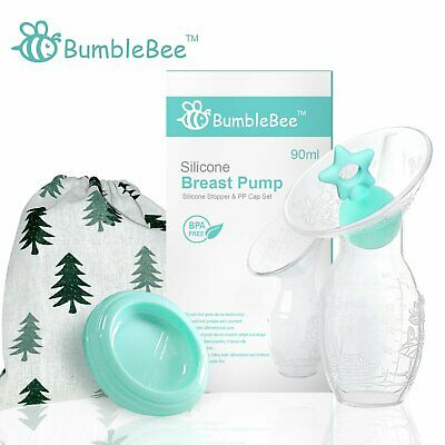 2 Pack Silicone Breast Pump Stopper BPA Free Breastfeeding Manual Breastmilk