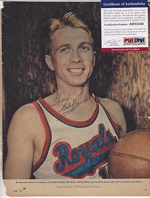 Bob Davies Autographed 8x10 Mag Picture PSA COA Basketball HOFer NBA All Star
