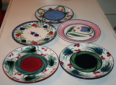 Set of Five Gail Pittman 10in Plates   lot
