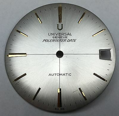 Universal Genève Polerouter Date Sector Dial New Old Stock ca. 1960