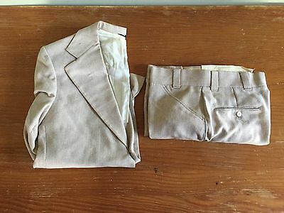 Vintage Sears The Men's Store 2 Piece Textured Suit - Size 39S, 32 Pants - Beige
