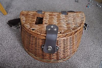 Fly Fishing Wicker Creel Basket Used Fly Vintage Fishing Tackle Gear Setup
