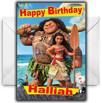DISNEY'S MOANA Personalised Birthday / Christmas / Card - Large A5  - Disney