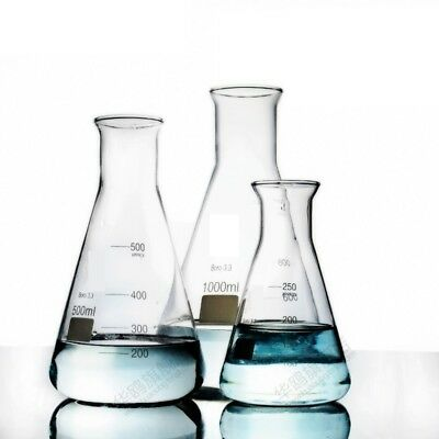 Borosilicate Glass Conical Flask Wide Mouth Erlenmeyer Graduated Boro 3.3 Lab