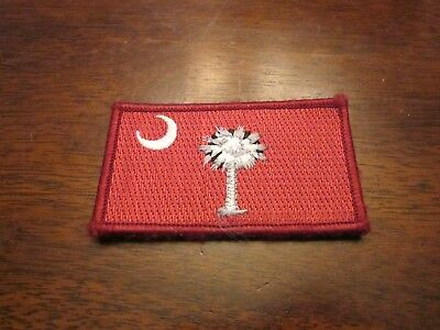The Citadel The Military College of SC Cadet Used Red Flag Velcro Patch