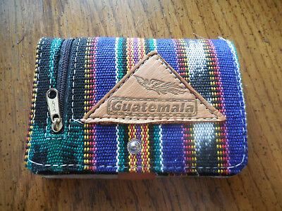 guatemala expandable wallet with mirror and zipper pockets