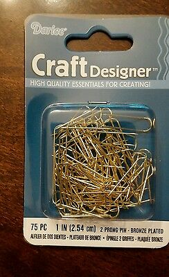 DARICE U-PINS 2 PRONG PIN BRONZE PLATED jewelry necklace display making