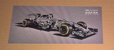 Red Bull F1 Camouflage RB11 2015 - Postcard / Flyer **RARE OFFICIAL PROMO ITEM**