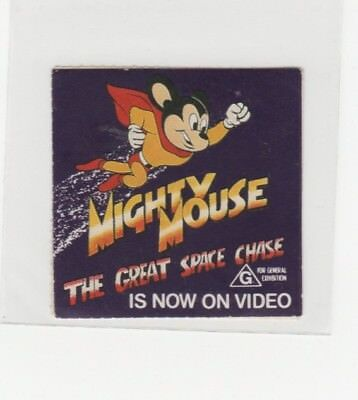 Australian Trade sticker: Mighty Mouse