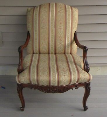 Vintage Antique Solid wood Hand Carved Arm Chair Original