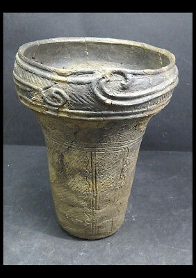 "Jomon Japan Neolithic Ancient Artifacts Vessel - 10"" Tall"