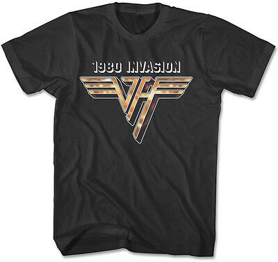 Van Halen 1980 INVASION T-Shirt - Officially Licensed - Sizes S to 4XL New