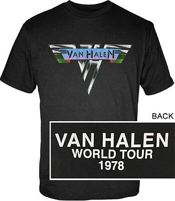1978 Van Halen World Tour Shirt Officially Licensed Sizes S to 3XL