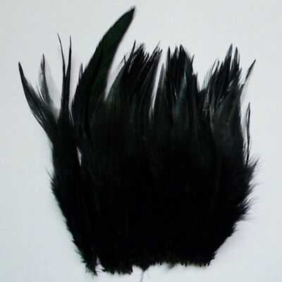 """wholesale 100pcs black The rooster feathers 2-4""""5-10cm for  DIY craft  #41"""
