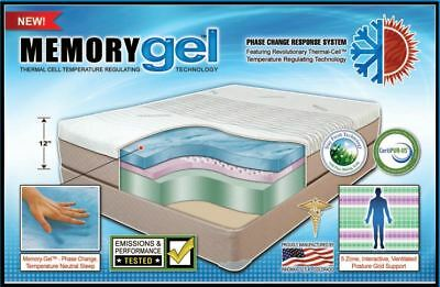 Memory Gel™ Mattress / Phase Change Thermal-Cell™ / Temperature Regulating!