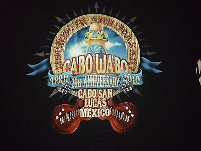 Cabo Wabo 20th Anniversary Shirt ( Size XL ) NEW!!!
