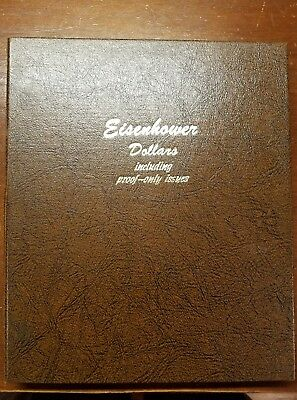 1971-1978 Complete 32 Coin Eisenhower Dollar Set Uncirculated In Dansco