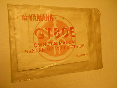 Nos Yamaha Gt80 E   Owners Manual
