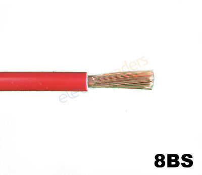 8BS Automotive Battery Starter Cable 74Amp Rating Red Per Metre