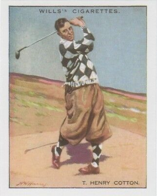 Golf Card Reprint - Heny Cotton