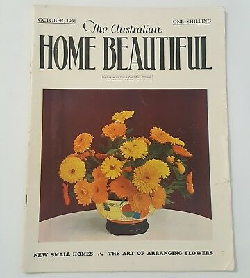 "*Very Rare* The Australian Home Beautiful Magazine ""October 1931"". 68 Pages"