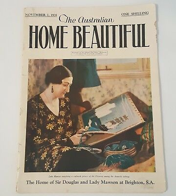 "*Very Rare* The Australian Home Beautiful Magazine ""November 1931"". 68 Pages"