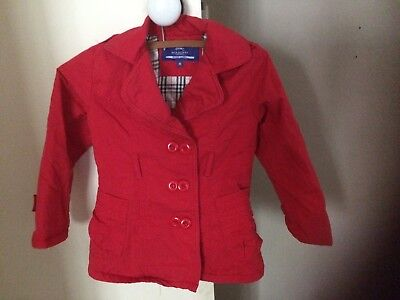 Burberry Girls Red padded jacket size 5-6