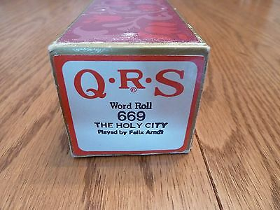 "QRS Pianola Roll - ""THE HOLY CITY"""