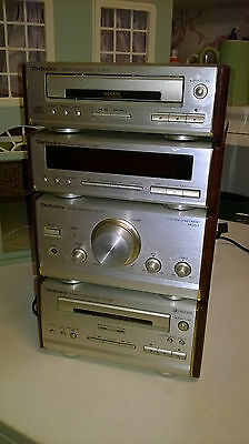 Technics Mini Hifi Walnut Effect SL-HD51 + ST-HD51 + SE-HD51 + RS-HD81