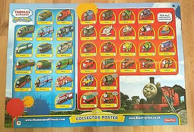 New ! Free Postage ! Thomas And Friends Take N Play 2014 Collector Poster