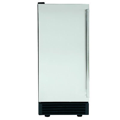 """Maxx Ice MIM50 14.6"""" Energy Star Built-In 50Lb Clear Ice Maker - Stainless Steel"""