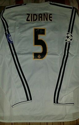 Zidane Signed official Real Madrid Champions League 2003-2004 shirt