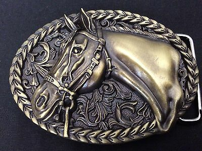 New Western Horse Bronze/Gold Belt Buckle