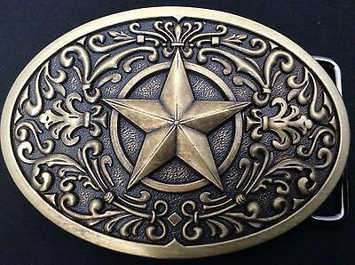 New Western Star Bronze Belt Buckle