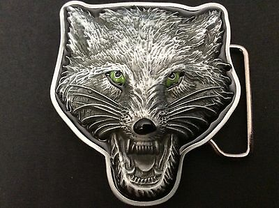 New Wolf Face Belt Buckle