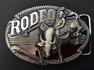 New Western Bull Riding Rodeo Belt Buckle