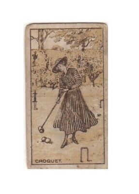 MacRobertsons confectionery card. Croquet 1916