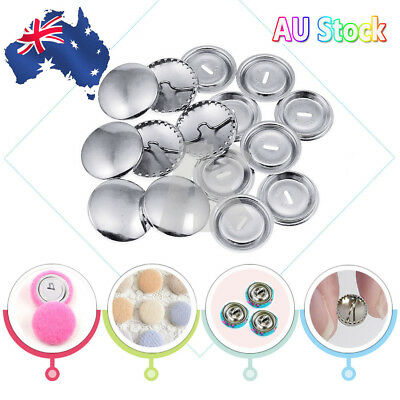 Self Cover Buttons Metal and Plastic Sizes 15mm 19mm 5/100Pcs Rustproof Hot