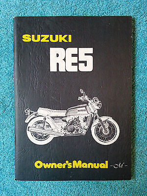 SUZUKI, RE5 M, Rotary, Owner's Manual, printed March 1975, part no. 99011-37600